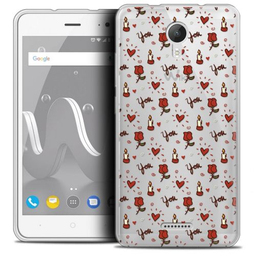 "Coque Crystal Gel Wiko Jerry 2 (5"") Extra Fine Love - Bougies et Roses"