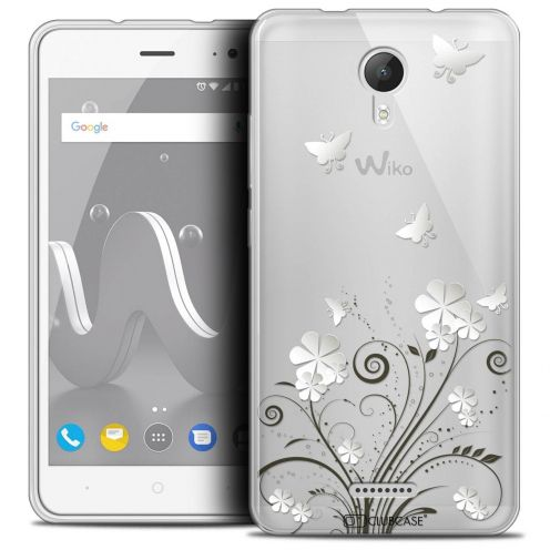 "Coque Crystal Gel Wiko Jerry 2 (5"") Extra Fine Summer - Papillons"
