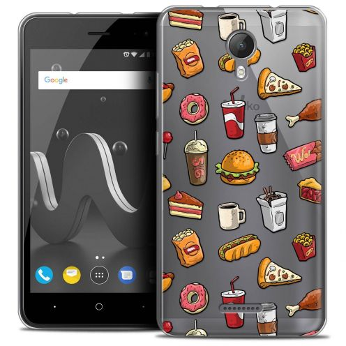 "Coque Crystal Gel Wiko Jerry 2 (5"") Extra Fine Foodie - Fast Food"