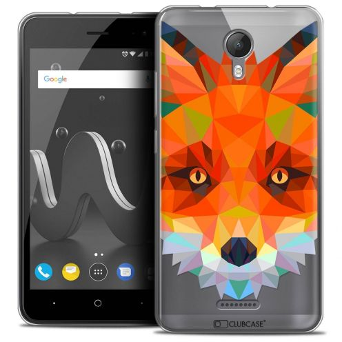 "Coque Crystal Gel Wiko Jerry 2 (5"") Extra Fine Polygon Animals - Renard"