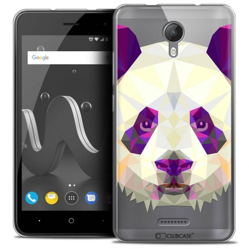 "Coque Crystal Gel Wiko Jerry 2 (5"") Extra Fine Polygon Animals - Panda"