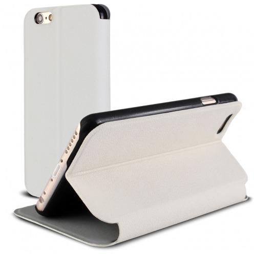 Vue Principale de Etui iPhone 6 Plus Slim Folio Smart Magnet Blanc