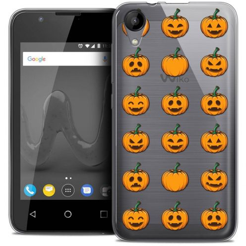 """Coque Wiko Sunny 2 Crystal Gel (4"""") Extra Fine Halloween - Smiley Citrouille"""