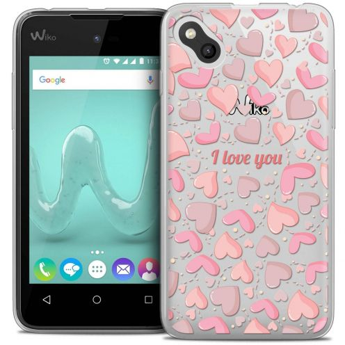"Coque Wiko Sunny Crystal Gel (4"") Extra Fine Love - I Love You"