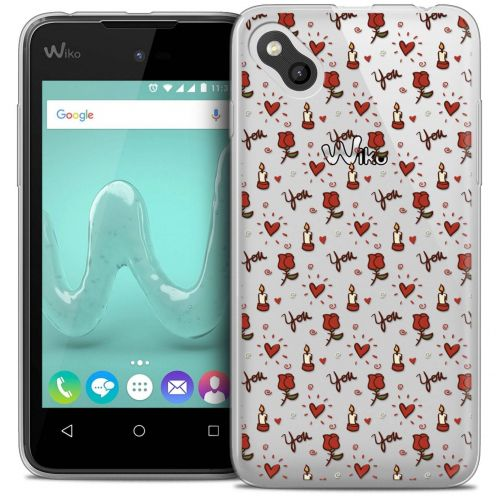 "Coque Wiko Sunny Crystal Gel (4"") Extra Fine Love - Bougies et Roses"