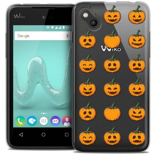 "Coque Wiko Sunny Crystal Gel (4"") Extra Fine Halloween - Smiley Citrouille"