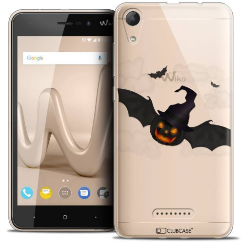 "Coque Crystal Gel Wiko Lenny 4 (5"") Extra Fine Halloween - Chauve Citrouille"