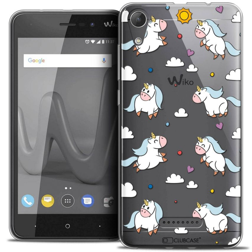 "Coque Crystal Gel Wiko Lenny 4 (5"") Extra Fine Fantasia - Licorne In the Sky"