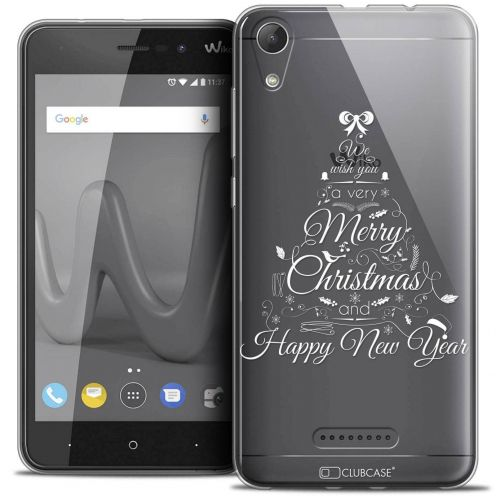 """Coque Crystal Gel Wiko Lenny 4 (5"""") Extra Fine Noël 2017 - Calligraphie"""