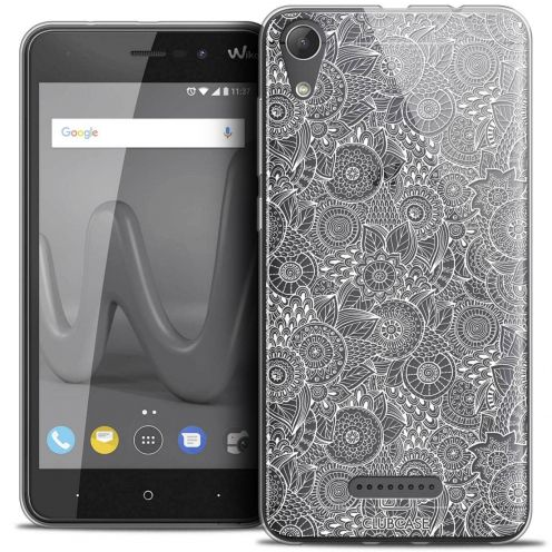 """Coque Crystal Gel Wiko Lenny 4 (5"""") Extra Fine Dentelle Florale - Blanc"""