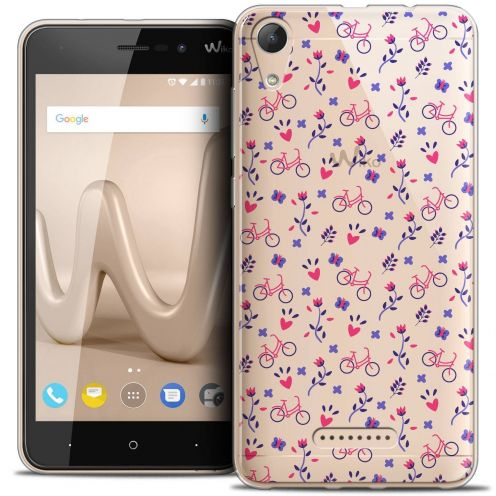 "Coque Crystal Gel Wiko Lenny 4 (5"") Extra Fine Love - Bicycle"