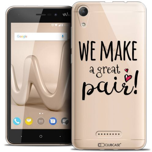 "Coque Crystal Gel Wiko Lenny 4 (5"") Extra Fine Love - We Make Great Pair"