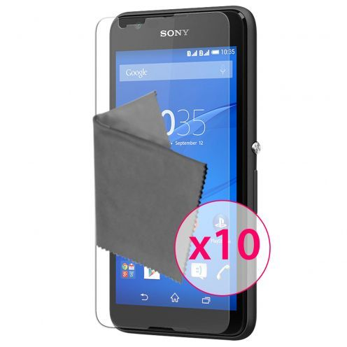 Zoom sur Films de protection Sony XPERIA E4 Clubcase ® HD Lot de 10