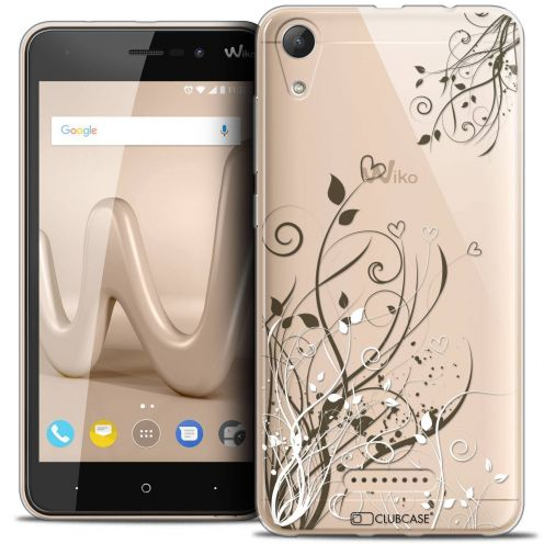 "Coque Crystal Gel Wiko Lenny 4 (5"") Extra Fine Love - Hearts Flowers"