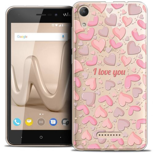 """Coque Crystal Gel Wiko Lenny 4 (5"""") Extra Fine Love - I Love You"""