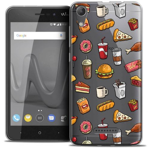"Coque Crystal Gel Wiko Lenny 4 (5"") Extra Fine Foodie - Fast Food"