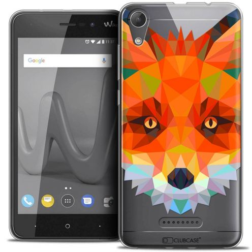 "Coque Crystal Gel Wiko Lenny 4 (5"") Extra Fine Polygon Animals - Renard"