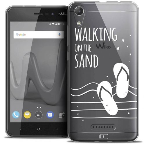 """Coque Crystal Gel Wiko Lenny 4 (5"""") Extra Fine Summer - Walking on the Sand"""