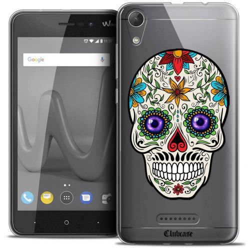 """Coque Crystal Gel Wiko Lenny 4 (5"""") Extra Fine Skull - Maria's Flower"""