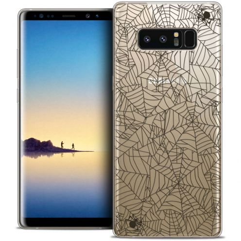 "Coque Crystal Gel Samsung Galaxy Note 8 (6.3"") Extra Fine Halloween - Spooky Spider"