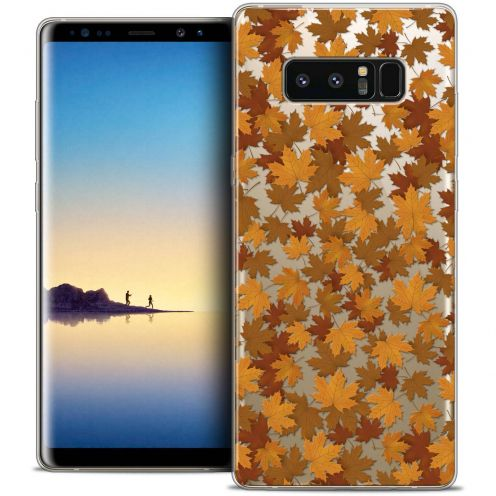 "Coque Crystal Gel Samsung Galaxy Note 8 (6.3"") Extra Fine Autumn 16 - Feuilles"