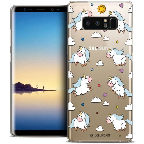 "Coque Crystal Gel Samsung Galaxy Note 8 (6.3"") Extra Fine Fantasia - Licorne In the Sky"