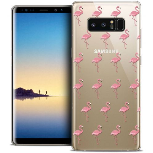 "Coque Crystal Gel Samsung Galaxy Note 8 (6.3"") Extra Fine Pattern - Les flamants Roses"