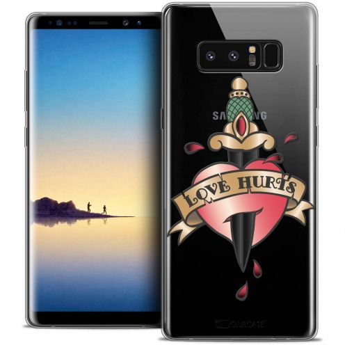 "Coque Crystal Gel Samsung Galaxy Note 8 (6.3"") Extra Fine Tatoo Lover - Love Hurts"