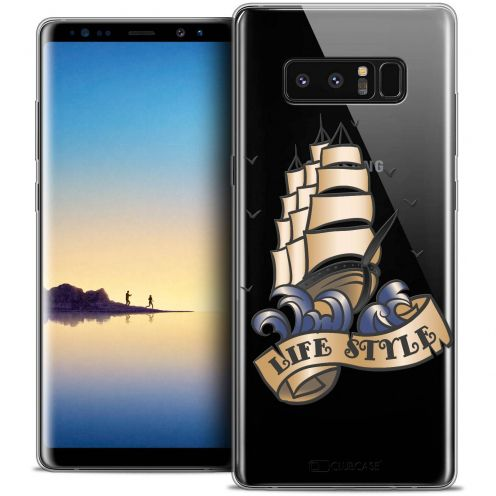 "Coque Crystal Gel Samsung Galaxy Note 8 (6.3"") Extra Fine Tatoo Lover - Life Style"