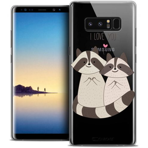 "Coque Crystal Gel Samsung Galaxy Note 8 (6.3"") Extra Fine Sweetie - Racoon Love"