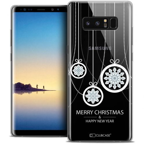 "Coque Crystal Gel Samsung Galaxy Note 8 (6.3"") Extra Fine Noël 2017 - Christmas Balls"