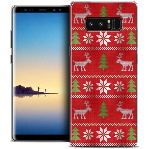 "Coque Crystal Gel Samsung Galaxy Note 8 (6.3"") Extra Fine Noël 2017 - Couture Rouge"