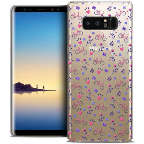 "Coque Crystal Gel Samsung Galaxy Note 8 (6.3"") Extra Fine Love - Bicycle"