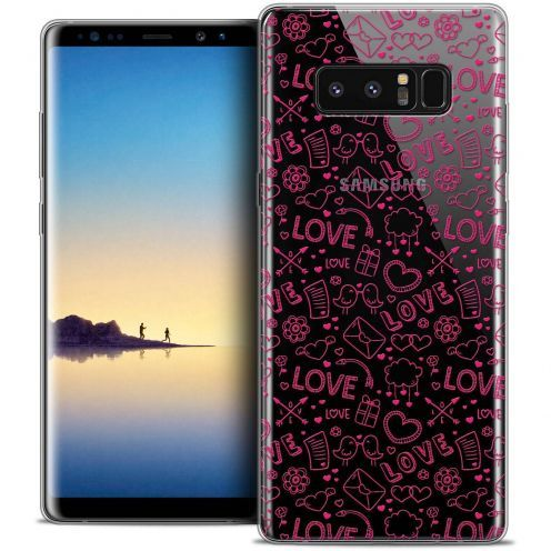 "Coque Crystal Gel Samsung Galaxy Note 8 (6.3"") Extra Fine Love - Doodle"