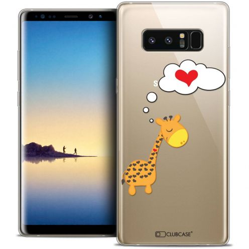 "Coque Crystal Gel Samsung Galaxy Note 8 (6.3"") Extra Fine Love - Girafe Amoureuse"