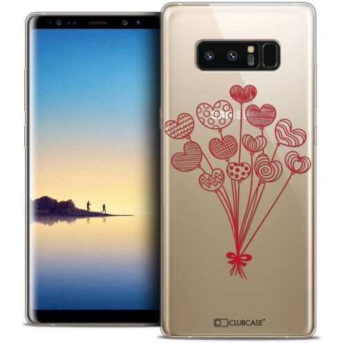 "Coque Crystal Gel Samsung Galaxy Note 8 (6.3"") Extra Fine Love - Ballons d'amour"