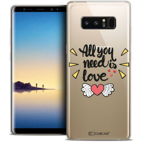 "Coque Crystal Gel Samsung Galaxy Note 8 (6.3"") Extra Fine Love - All U Need Is"