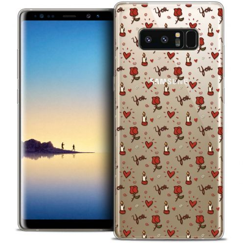 """Coque Crystal Gel Samsung Galaxy Note 8 (6.3"""") Extra Fine Love - Bougies et Roses"""