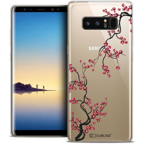 "Coque Crystal Gel Samsung Galaxy Note 8 (6.3"") Extra Fine Summer - Sakura"