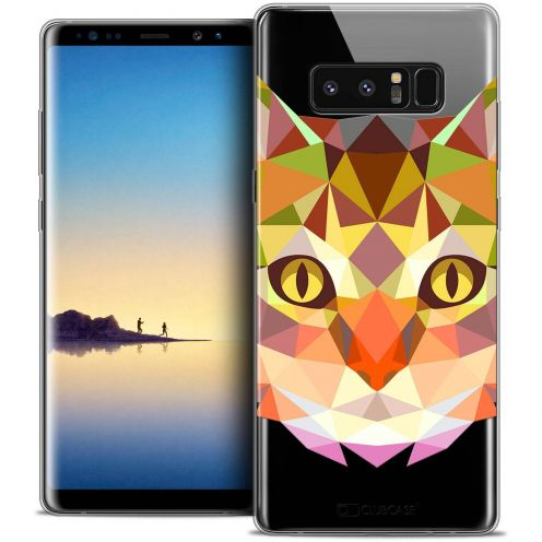 "Coque Crystal Gel Samsung Galaxy Note 8 (6.3"") Extra Fine Polygon Animals - Chat"