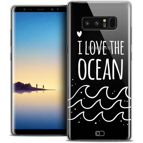 "Coque Crystal Gel Samsung Galaxy Note 8 (6.3"") Extra Fine Summer - I Love Ocean"