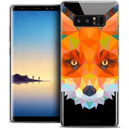 """Coque Crystal Gel Samsung Galaxy Note 8 (6.3"""") Extra Fine Polygon Animals - Renard"""