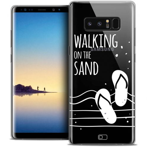 "Coque Crystal Gel Samsung Galaxy Note 8 (6.3"") Extra Fine Summer - Walking on the Sand"
