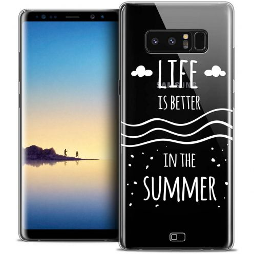 "Coque Crystal Gel Samsung Galaxy Note 8 (6.3"") Extra Fine Summer - Life's Better"