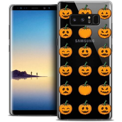 "Coque Crystal Gel Samsung Galaxy Note 8 (6.3"") Extra Fine Halloween - Smiley Citrouille"