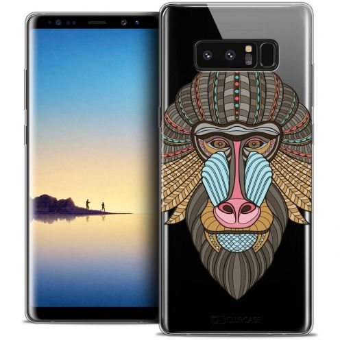 "Coque Crystal Gel Samsung Galaxy Note 8 (6.3"") Extra Fine Summer - Babouin"
