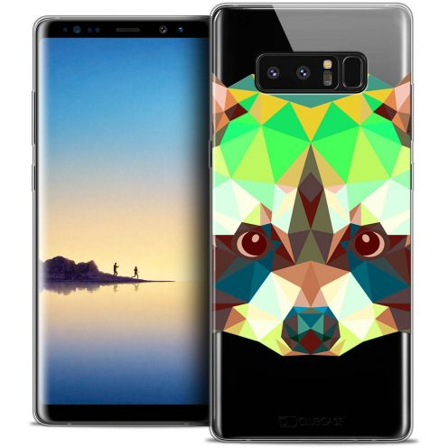 "Coque Crystal Gel Samsung Galaxy Note 8 (6.3"") Extra Fine Polygon Animals - Raton Laveur"
