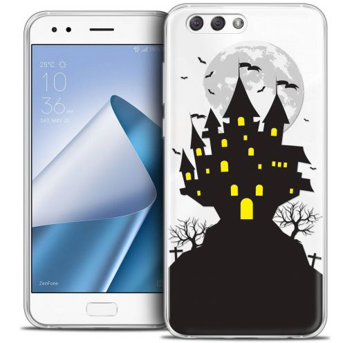 "Coque Crystal Gel Asus Zenfone 4 ZE554KL (5.5"") Extra Fine Halloween - Castle Scream"