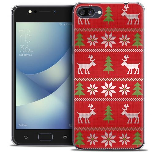 """Coque Crystal Gel Asus Zenfone 4 MAX ZC520KL (5.2"""") Extra Fine Noël 2017 - Couture Rouge"""