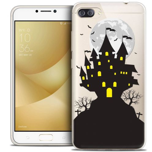 "Coque Crystal Gel Asus Zenfone 4 MAX PLUS / Pro ZC554KL (5.5"") Extra Fine Halloween - Castle Scream"
